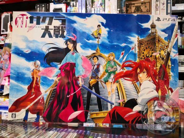日版 全新 PS4 原版遊戲片, 新櫻花大戰 日區日文限定版, 內附初回特典DLC