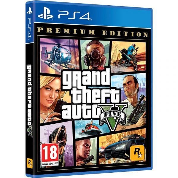 全新 PS4 原版遊戲片, GTA5 俠盜獵車手 5 高級版 英文包裝 中英文合版