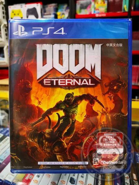 全新 PS4 原版片, DOOM ETERNAL 毀滅戰士:永恆 中文一般版