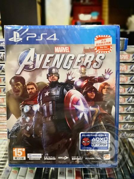 全新 PS4 原版遊戲片, 漫威復仇者聯盟 中文普通版, 內附特典DLC