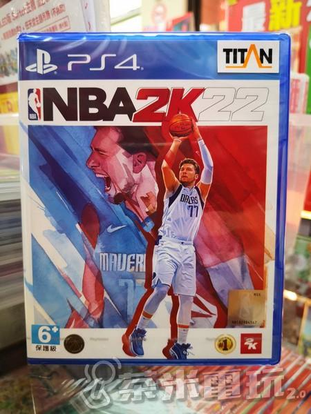 全新 PS4 原版遊戲片, NBA 2K22 中文一般版, 附特典DLC