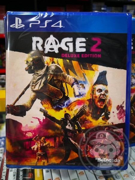 全新 PS4 原版遊戲, 狂怒煉獄 2 中文豪華版, 附首批特典DLC 貼在包裝背面