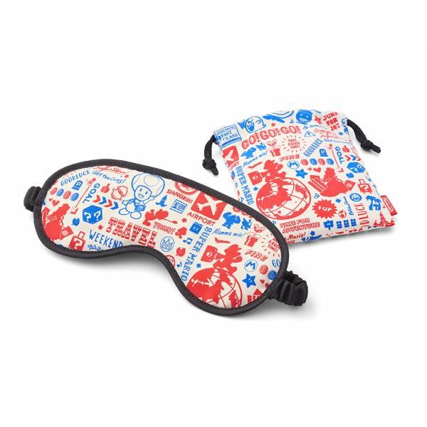 [預購] 任天堂原廠 超級瑪利歐旅行系列 眼罩-旅行瑪利歐 附收納袋 [延期至2020年內上市]