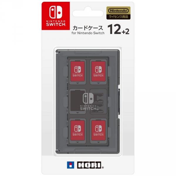 全新日本 HORI 牌 12 片裝 Switch 卡帶收納盒, 三色可選