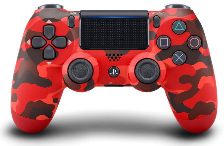 全新台灣 SONY 公司貨 PS4 DUALSHOCK 4 新款無線控制器(迷彩紅)