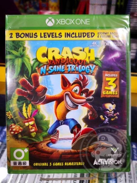 出清 全新 XBOX ONE 原版遊戲片, 袋狼大進擊 瘋狂三部曲 英文版