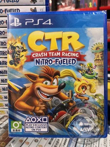 全新 PS4 袋狼大進擊賽車:氮氣爆衝 英文版, 可單機四人遊玩