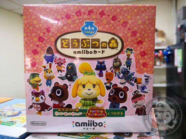 全新任天堂原廠 amiibo 卡片, amiibo 動物之森 第四彈 ,一盒50包, 不拆賣
