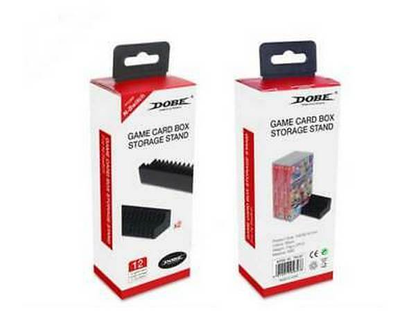 全新 DOBE 牌 Switch 遊戲卡盒收納架 2入 可直放24片遊戲卡帶盒(黑色)