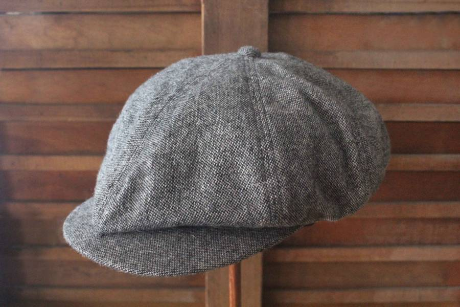 BELAFONTE- Ragtime Tweed Casquette/淺灰 BELAFONTE,報童帽,Belafonte,good time clothing,classic,Ragtime,Made in Japan