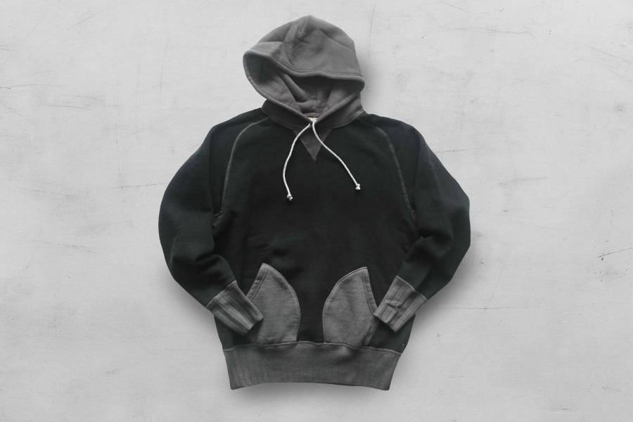 Two Moon - No.10178 Double V Freedom Sleeve Parka (Black x Charcoal) Two Moon