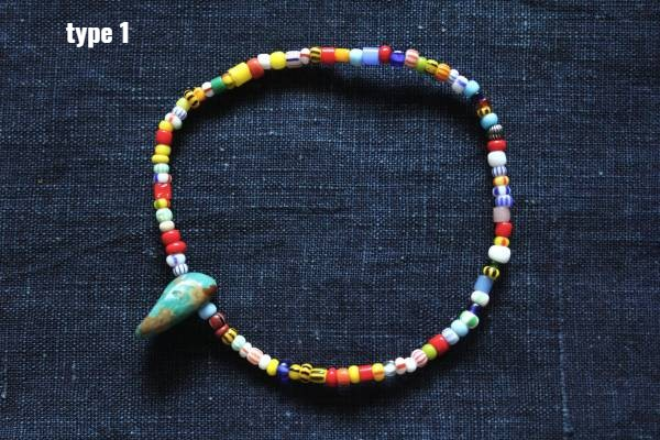 KinG Smith- 古董非洲貿易珠手鍊/綠松石/現貨