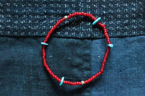KinG Smith- 古董紅珠手鍊(訂製)