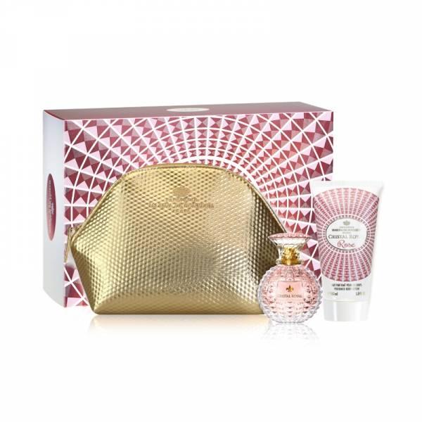 Marina de Bourbon 瑪莉安娜 玫慕傳情禮盒組 (淡香精50ml+化妝包+身體乳150ml)