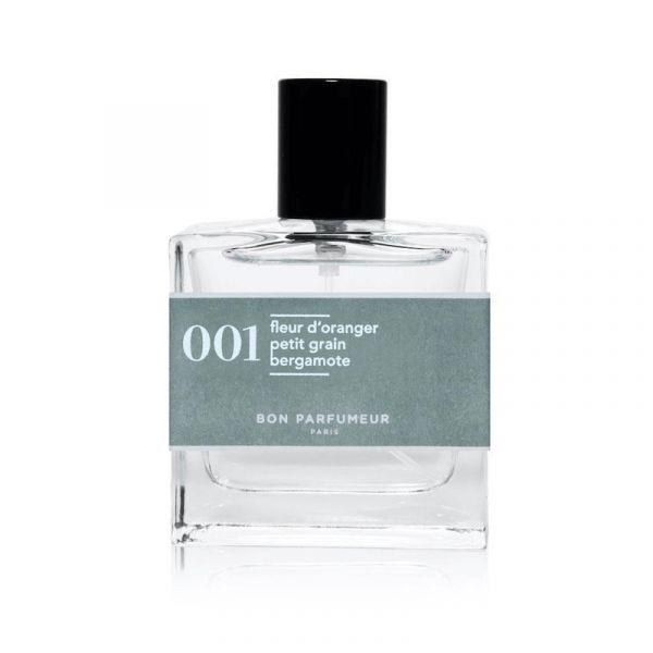 Bon Parfumeur 001 龍之月 淡香精 30ml 上市優惠 香水的核心以薰衣草還有柔和的橙花為主, 蓬鬆而潔白的香氣, 如同白色的月光鋪張在普羅旺斯的薰衣草海, 漫步在這樣的夜裡, 一切是令人舒心而愜意的。