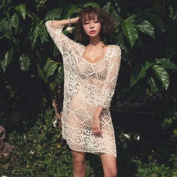 梨卡 - 自然愛【比基尼專用】【防曬顯瘦遮肚肚】針織罩衫C119 罩衫,自然愛,比基尼,針織
