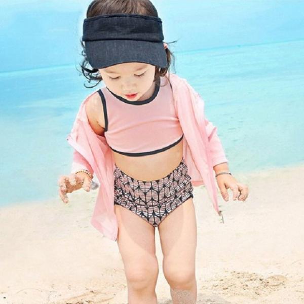 梨卡 - 俏皮兒童嬰兒款長袖防曬印花 - 韓國贈泳帽防曬四件套外套泳衣泳裝CH624 俏皮,兒童,嬰兒,長袖,防曬,印花,韓國,四件,外套,泳衣,泳裝