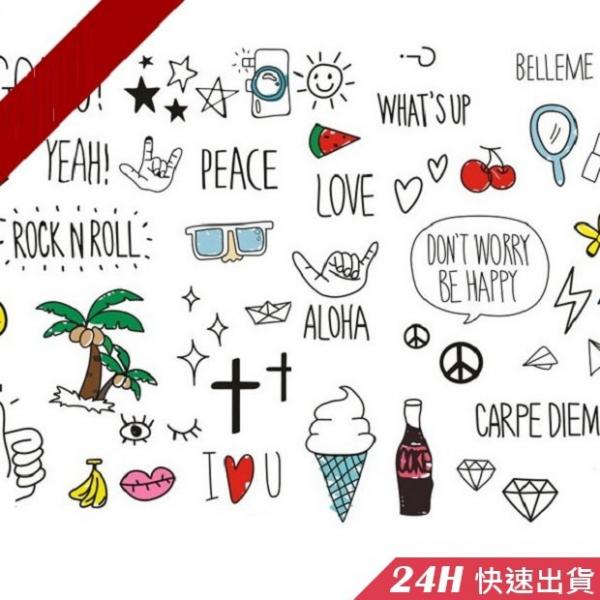 梨卡★現貨 - 彩色紋身刺青貼紙[可愛日韓微防水]身體彩繪- 出國渡假沙灘 海邊超搶眼T101