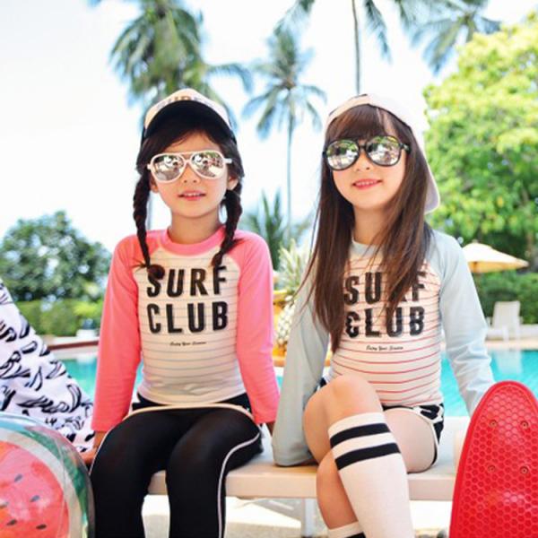 梨卡 - 長袖泳裝-防曬衝浪兒童嬰兒二件式套裝泳衣 - 潛水衣女潛水服粉色長褲款C820 長袖,泳裝,防曬,衝浪,兒童,嬰兒,二件式,套裝泳衣,潛水衣,女潛水服,粉色,長褲