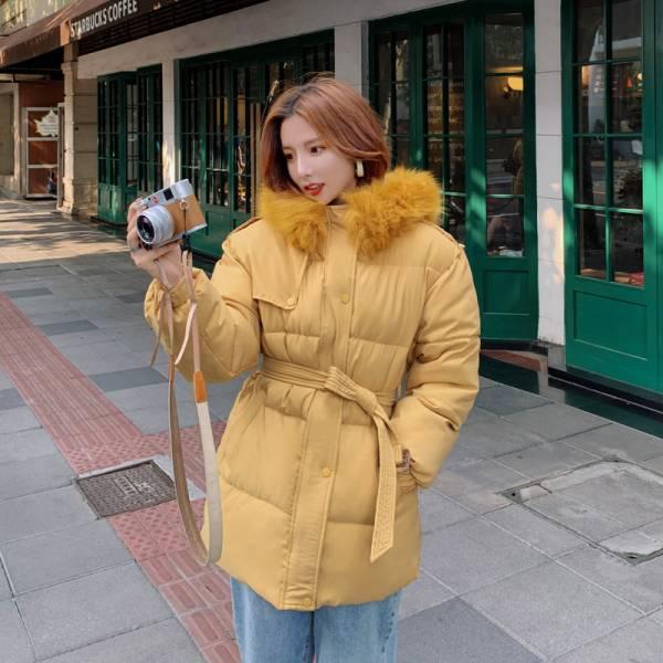 梨卡 - 短款保暖毛領鋪棉外套短大衣-造型毛領保暖加厚防風風衣鋪棉外套大衣FR001-1 短款、保暖、毛領、鋪棉、外套、短大衣、造型毛領、保暖加厚、防風、風衣、鋪棉外套、大衣