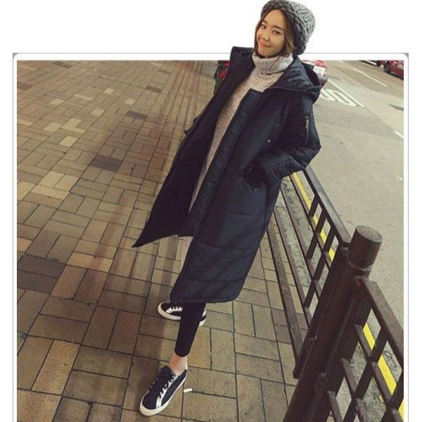 梨卡 - 情侶可穿羽絨鋪棉外套大衣-韓國爆款匹諾曹朴信惠款超長款保暖大衣風衣外套A869