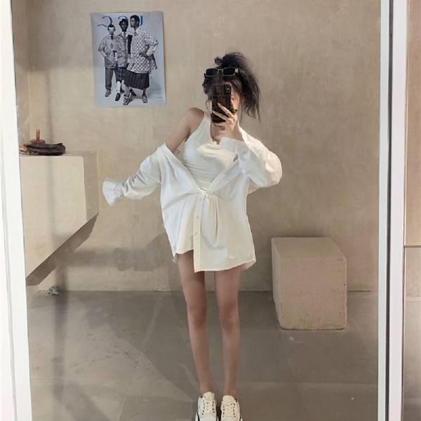 梨卡 -火辣性感假兩件襯衫背心連衣裙連身短裙BR572 火辣、性感、假兩件襯衫、背心連衣裙、連身短裙