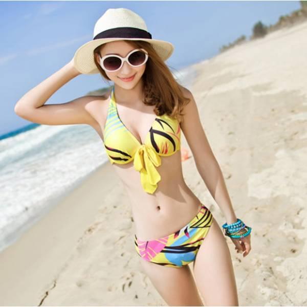 梨卡 - 泳衣泳裝大罩面加大尺碼E、F大罩杯可穿 [鋼圈] XXL 3XL比基尼 - 沙灘可泡湯溫泉C259 泳衣,泳裝,大罩面,加大尺碼,大罩杯,鋼圈,比基尼,沙灘