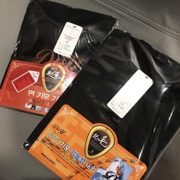 梨卡 - 韓國製韓國大品牌男女極致保暖黑色發熱衣R6019