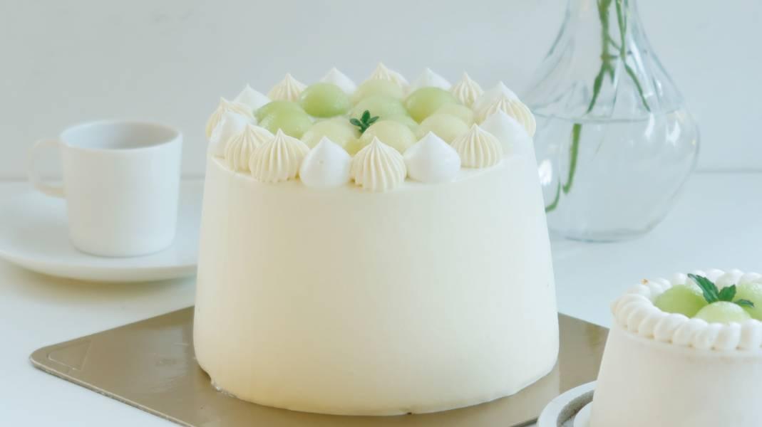 清新哈密瓜抹面戚風蛋糕 生日蛋糕,戚風蛋糕,奶油蛋糕,台中蛋糕,台中甜點