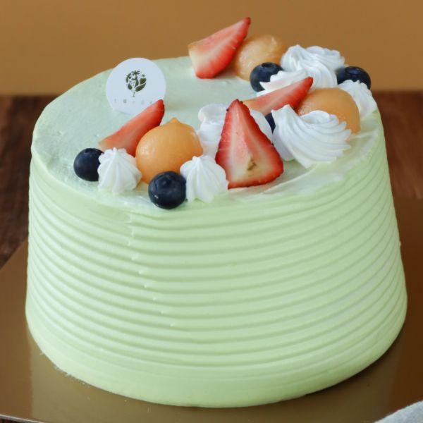 初夏甜蜜 / 七股網紋哈密瓜 / 戚風蛋糕 生日蛋糕,戚風蛋糕,奶油蛋糕,台中蛋糕,台中甜點