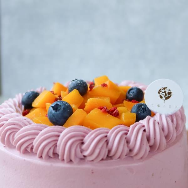 金黃派對 / 芒果季來了 / 抹面戚風蛋糕 生日蛋糕,戚風蛋糕,奶油蛋糕,台中蛋糕,台中甜點