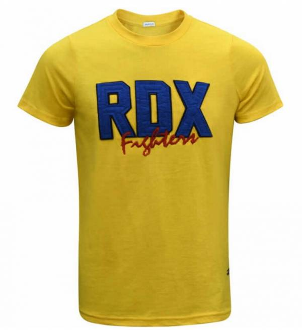 RDX POLY COTTON APPLIQUE T-SHIRT