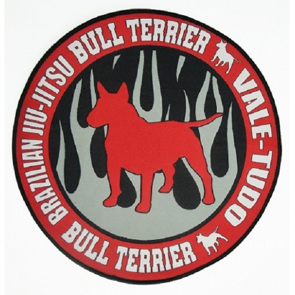 BULLTERRIER embroidery Patch CIRCLE