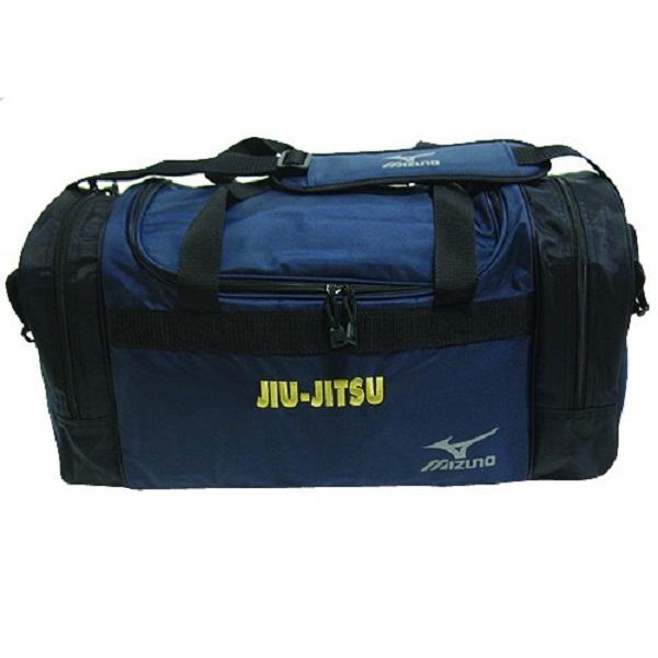 MIZUNO gear bag navy with jiu-jitsu 柔術側背包