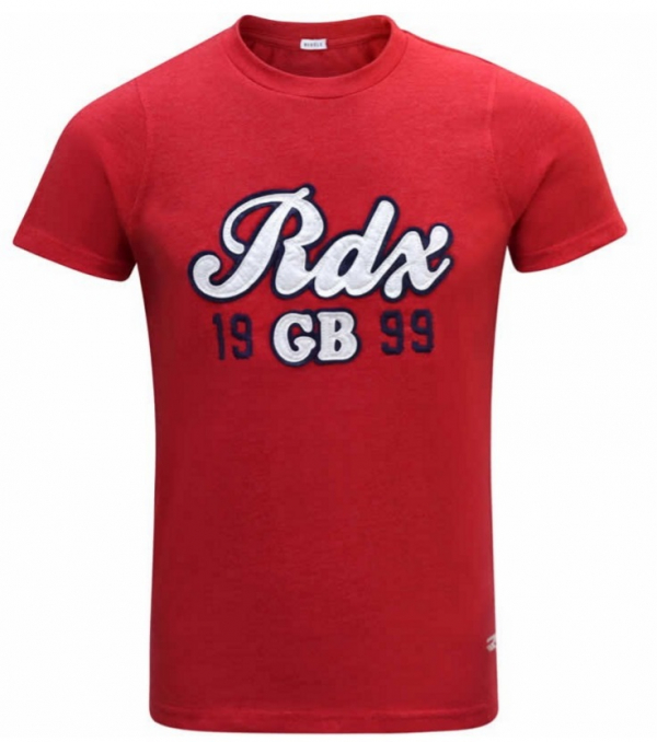RDX POLY COTTON APPLIQUE PRINT T-SHIRT