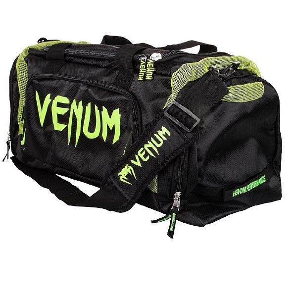 Venum Trainer Lite Sport Bag - Black/Neo Yellow 側背包