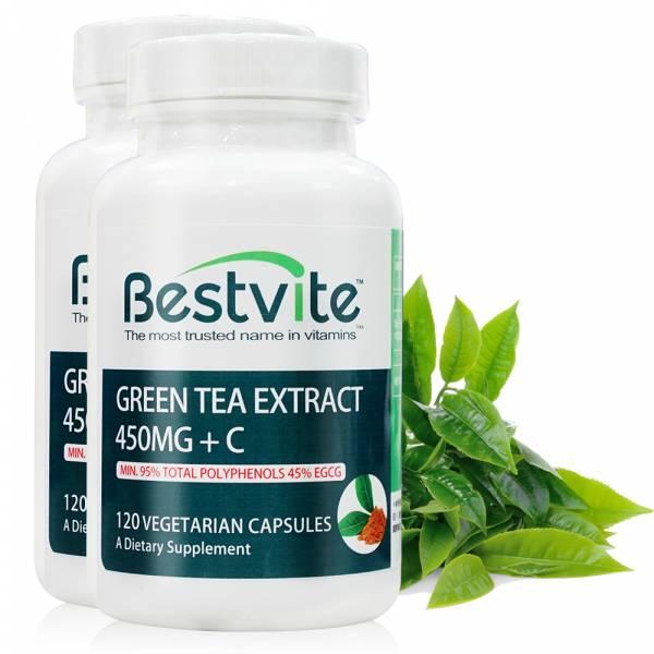 【美國BestVite】必賜力綠茶萃取膠囊+維生素C膠囊2瓶組 (120顆*2瓶) 綠茶萃取+維生素C,BestVite,必賜力,保健食品,綠茶,維他命C,維生素C