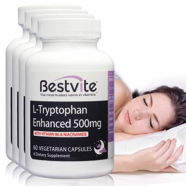 【美國BestVite】必賜力色胺酸加強膠囊4瓶組 (60顆*4瓶) 色胺酸加強,BestVite,必賜力,保健食品