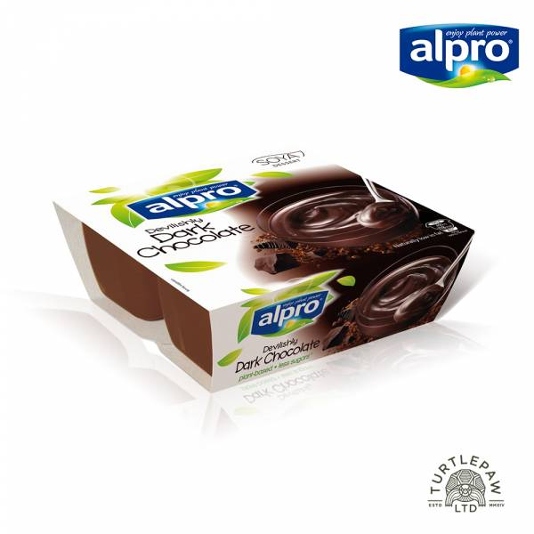 【ALPRO】極致黑巧克力豆奶酪(125公克*4入) 大豆甜品黑巧克力,植物奶,巧克力,奶酪