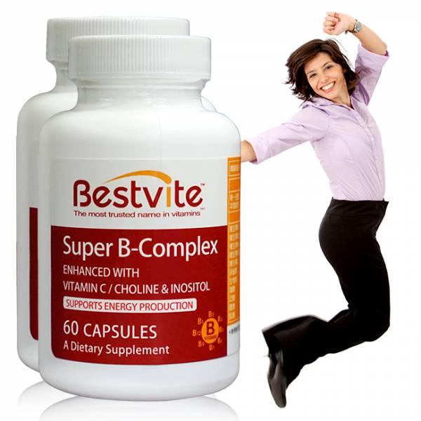 【美國BestVite】必賜力超級維他命B群膠囊2瓶組 (60顆*2瓶) 超級維他命B,BestVite,必賜力,保健食品