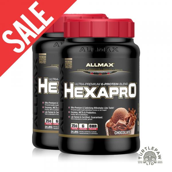 【加拿大ALLMAX】奧美仕HEXAPRO六重乳清蛋白巧克力口味2瓶 (3磅) 效期2020/06 HEXAPRO,六重乳清蛋白,ALLMAX,奧美仕,巧克力
