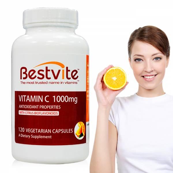 【美國Bestvite】必賜力維生素C1000 (維他命C1000) 膠囊 1瓶 (120顆) 維他命C1000,維生素C1000,BestVite,必賜力,保健食品