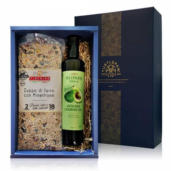 頂級義式料理禮盒-Olivado酪梨油.Tiberino義式料理包 禮盒組,橄欖油,Tiberino,義大利麵