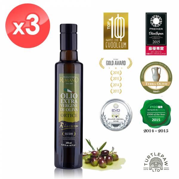 【 義大利Romano】羅蔓諾Ortice特級初榨橄欖油(250ml*3瓶) Romano,羅蔓諾,Ortice,初榨橄欖油,橄欖油,食用油,油