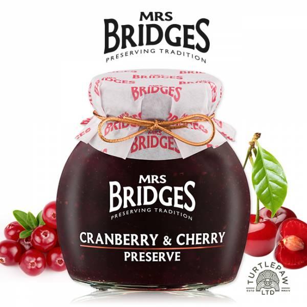 【MRS. BRIDGES】英橋夫人蔓越莓櫻桃果醬 (大)340g MRS. BRIDGES,英橋夫人,蔓越莓櫻桃,果醬