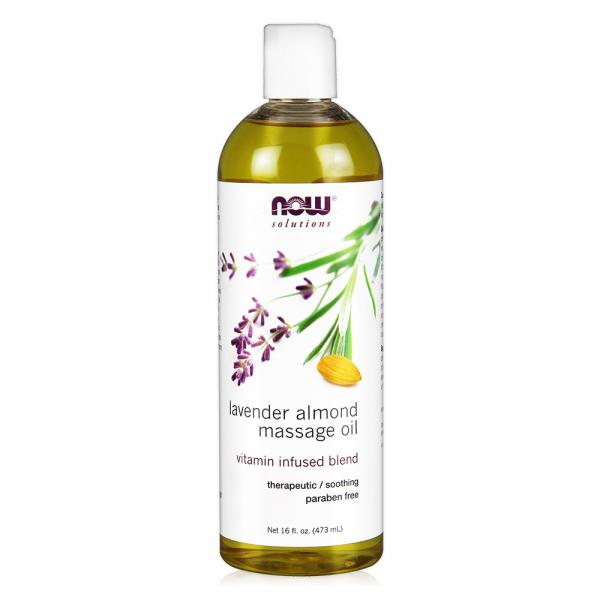 【NOW】薰衣草杏仁按摩油(16oz/473ml) Lavender Almond Massage Oil now,基底油,基礎油,按摩油,薰衣草杏仁,薰衣草,杏仁