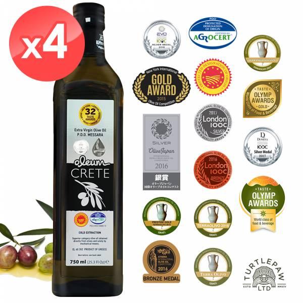 【Oleum Crete】奧莉恩頂級初榨橄欖油(750ml*4瓶) Oleum Crete,奧莉恩,初榨橄欖油,橄欖油,食用油,油