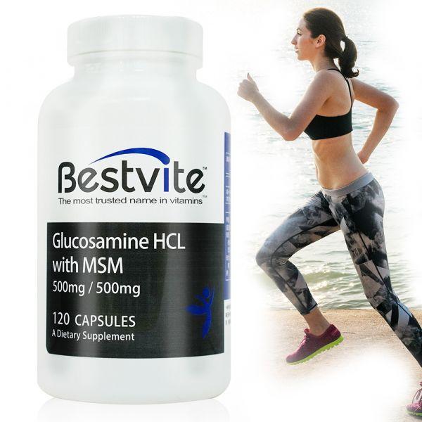 【美國BestVite】必賜力葡萄糖胺+MSM膠囊1瓶 (120顆)  葡萄糖胺+MSM,BestVite,必賜力,保健食品
