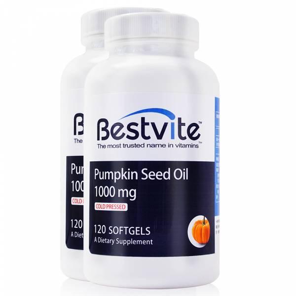 【美國BestVite】必賜力南瓜籽油膠囊2瓶組 (120顆*2瓶) 南瓜籽油,BestVite,必賜力,保健食品