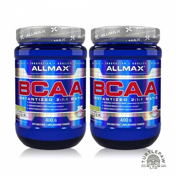 【加拿大Allmax】奧美仕BCAA支鏈胺基酸粉末 (400公克*2瓶) 支鏈胺基酸,BCAA,ALLMAX,奧美仕,巧克力